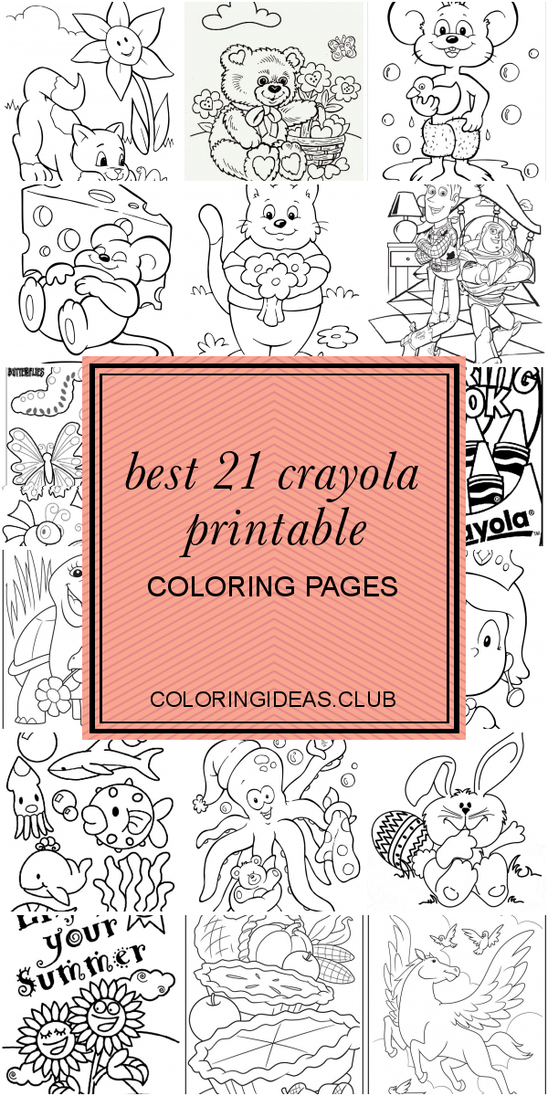 Best 21 Crayola Printable Coloring Pages (With images