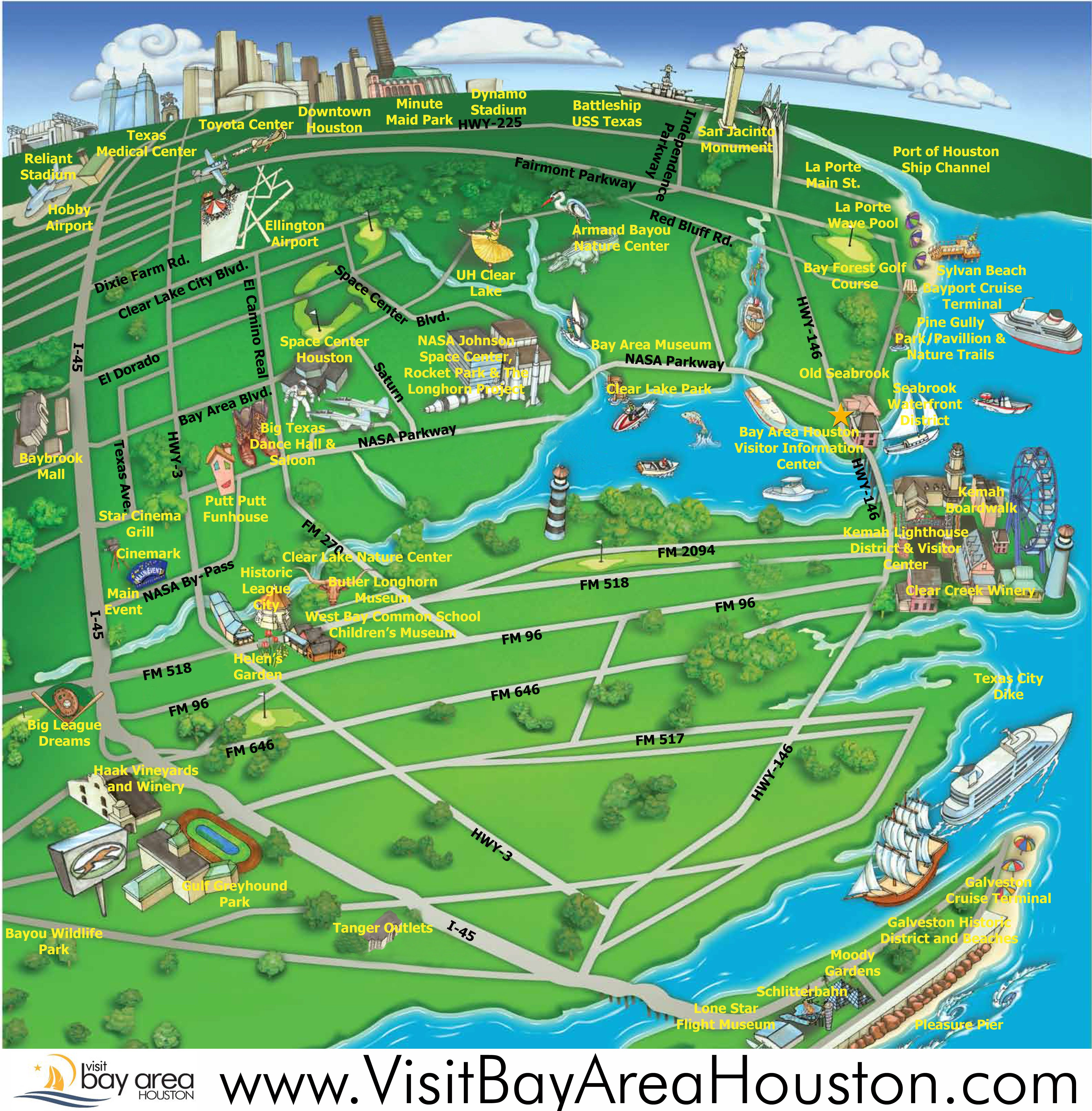 kemah seabrook map Map League City Galveston Bay Pinterest