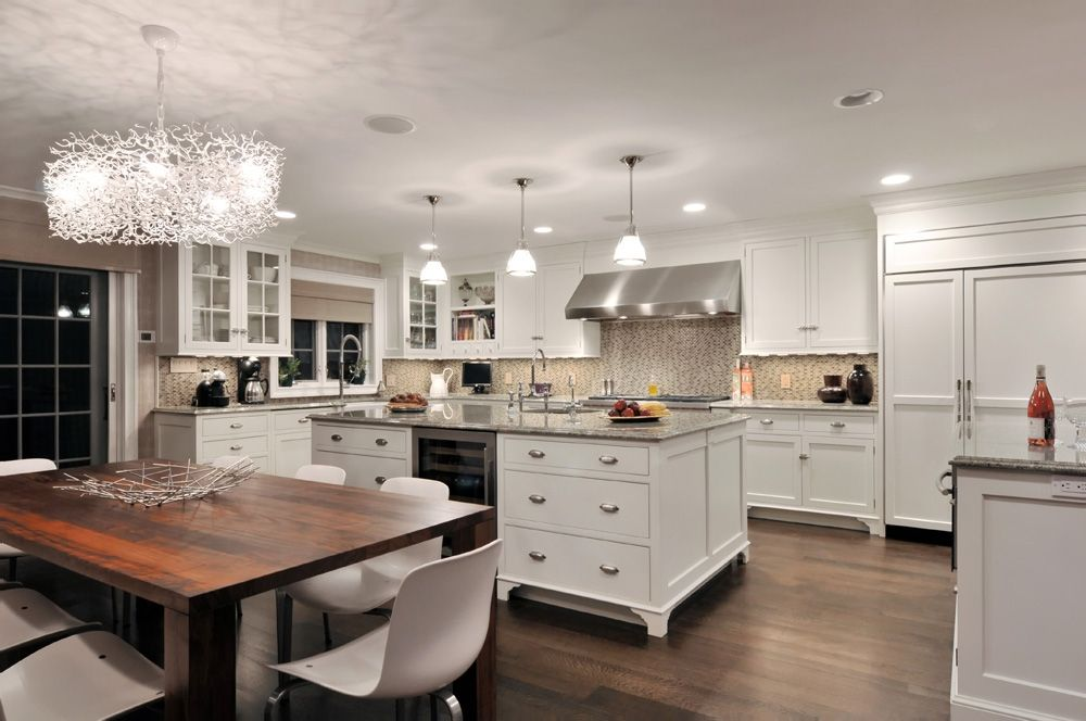 Beautiful all #white #kitchen by Showcase Kitchens New York ...