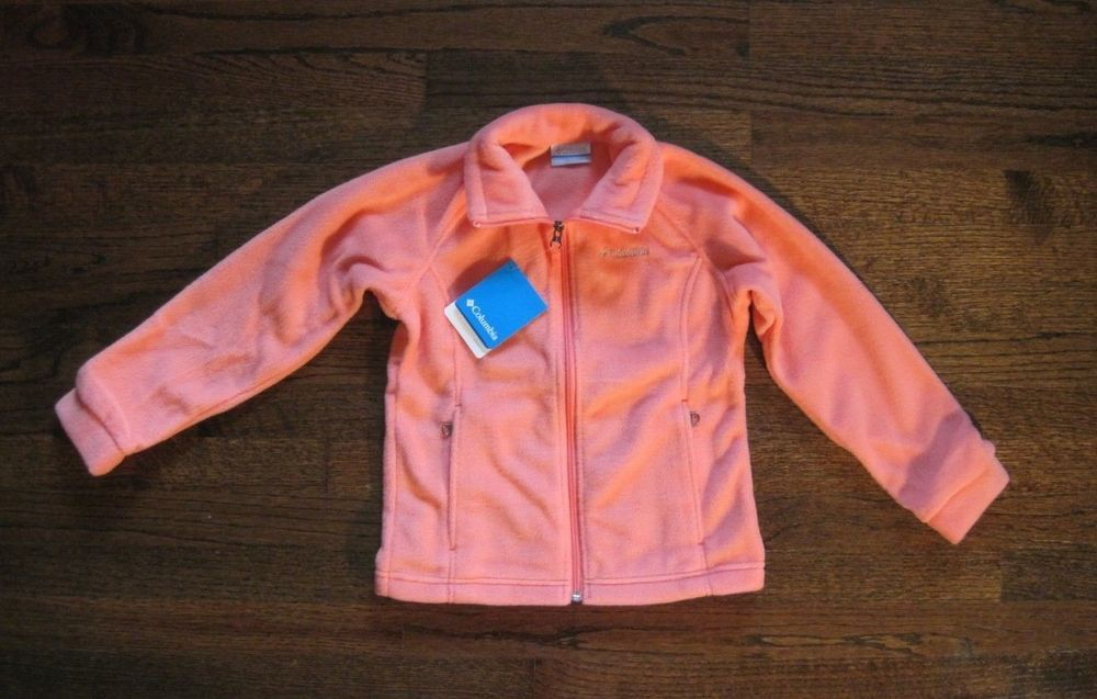 d4eee7e3d316 Columbia Youth Girl Coral Benton Springs Fleece Zipper Jacket US ...