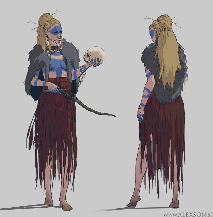 Young Nordic Witch Concept Art By Alexson1 Witch Characters Viking Character Concept Art