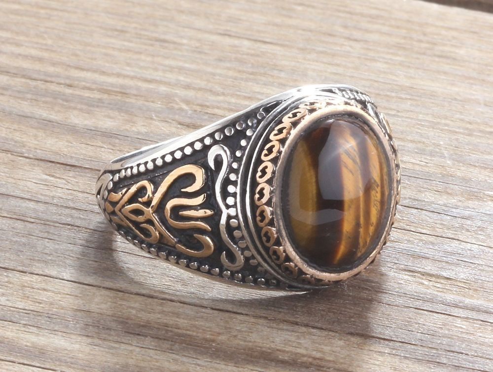 stone a stones with piece mens natural store dhcn women on online tiger eye jewelry dhgate product rings silver s retro wholesale vintgage