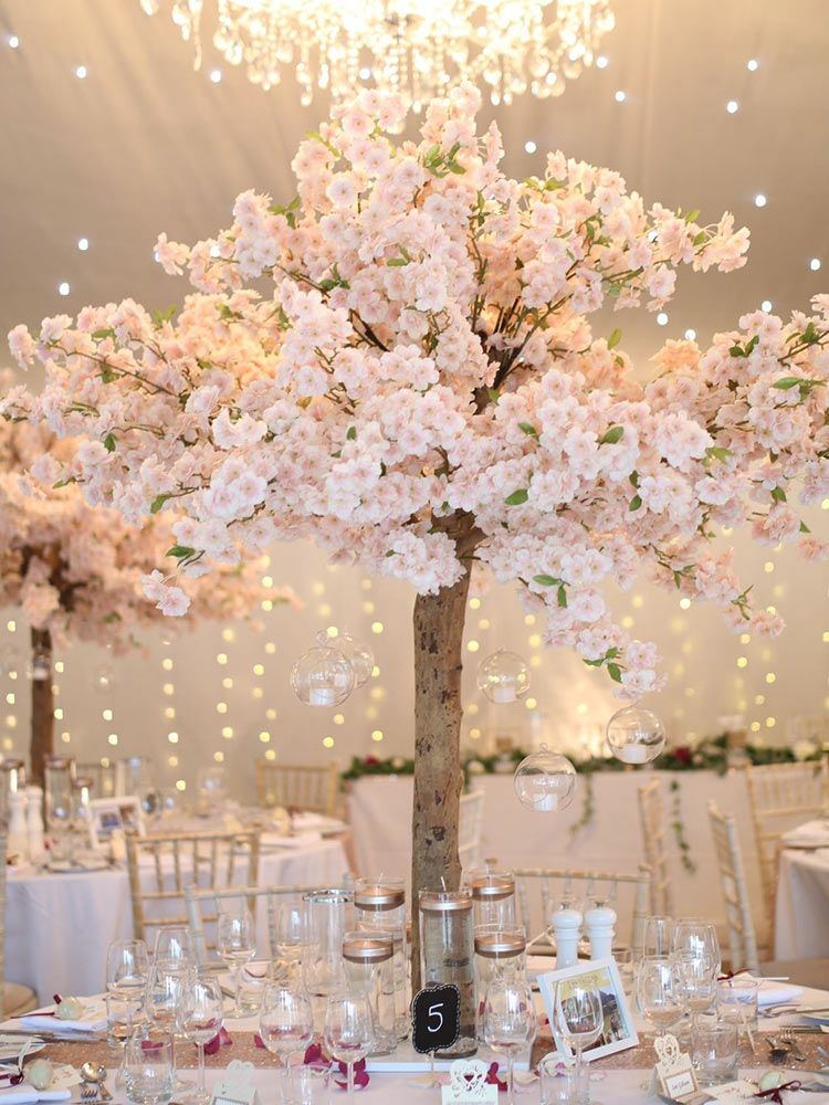 Pink Blossom Tree 2 In 2021 Blossom Tree Wedding Artificial Cherry Blossom Tree Pink Blossom Tree