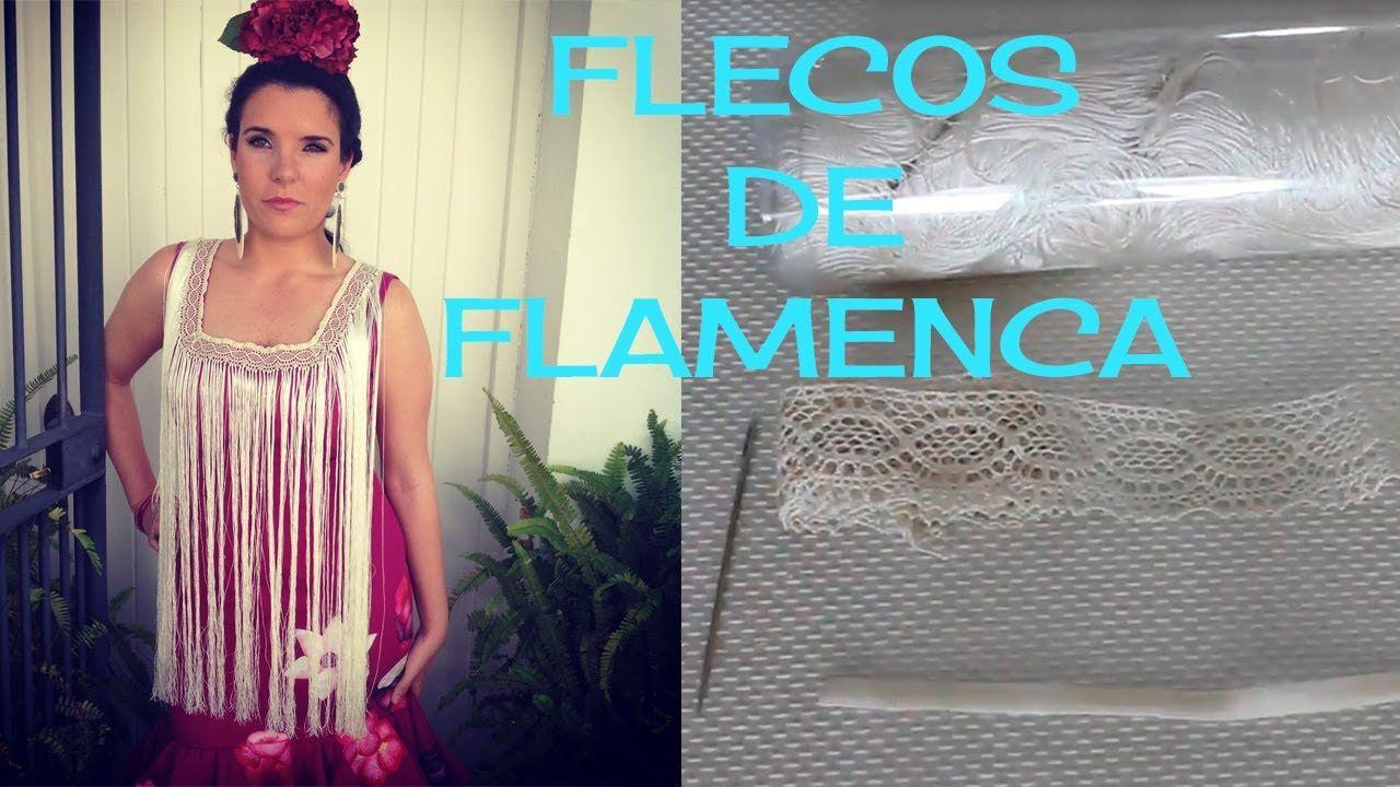 Cómo Hacer Flecos De Flamenca Como Hacer Flecos Flecos De Ganchillo Disfraz De Flamenco