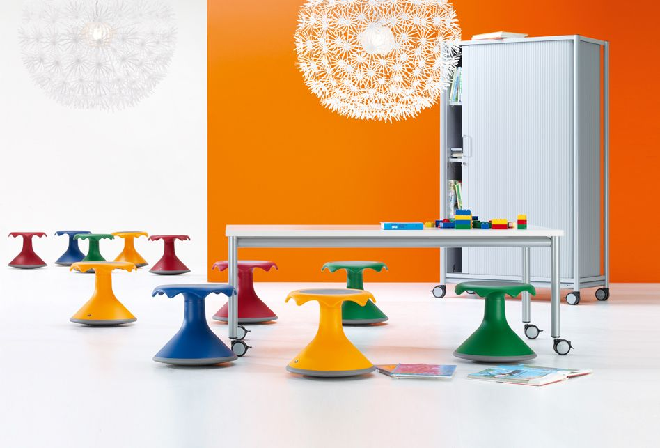 Kids Furniture : Hokki Stool By VS Allows Free Movement So That Kids Can  Sit While Still Moving Around   Playful, Fun Idea