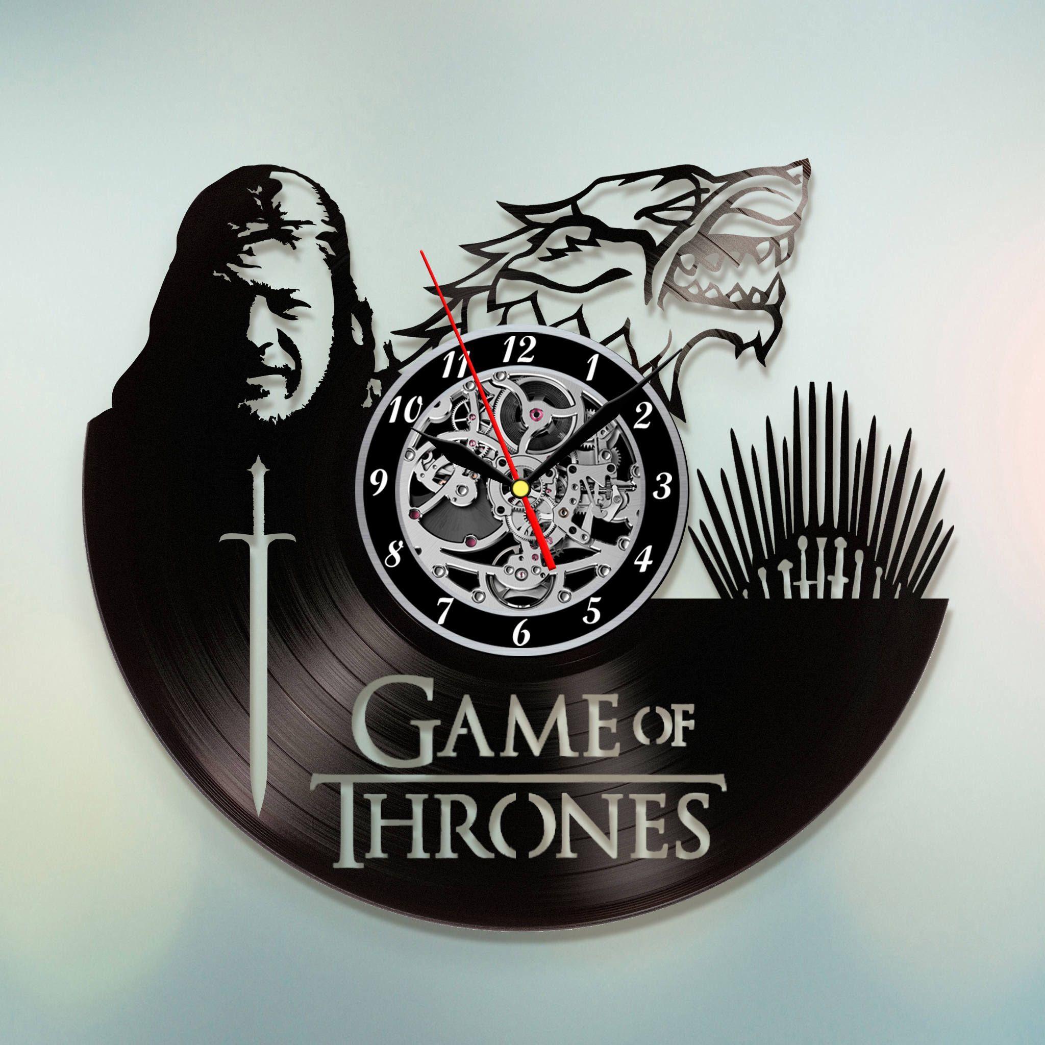 Game of Thrones Vinyl record clock Home design home decor