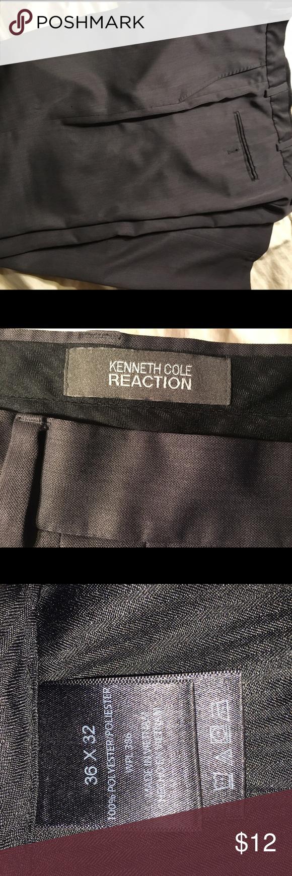 Kenneth Cole Reaction dress slacks 36x32 Gray 36x32 Kenneth Cole Reaction dress slacks.. Good condition Kenneth Cole Reaction Pants Dress