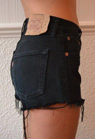 459e714c Black levis shorts … | levis in 2019…