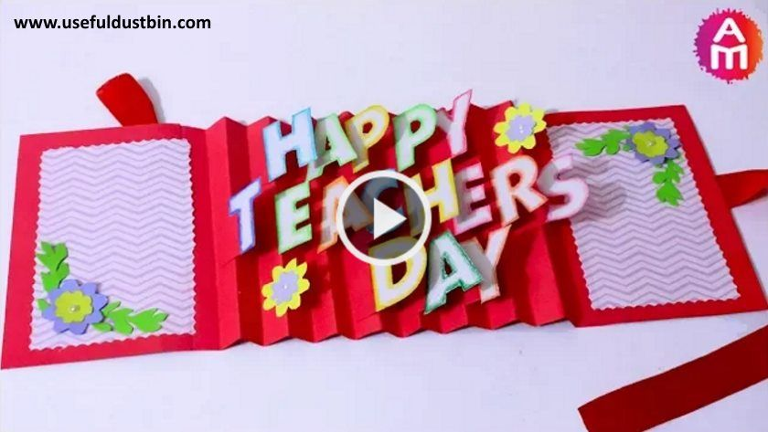 Diy Teacher S Day Card Handmade 3d Pop Up Card Making Idea Artsycraftsydad Teacher Birthday Card Teachers Day Greeting Card Happy Teachers Day Card
