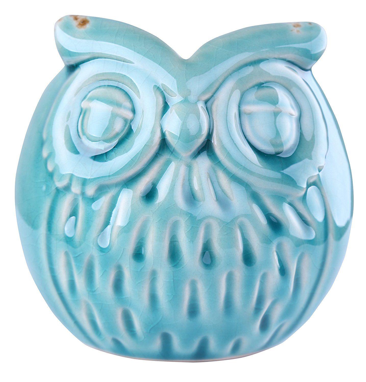 Delightful Ceramic \'Wise Old Owl\' Vase Animal Planter for Indoor or ...