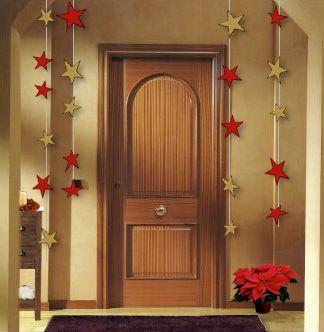 Una linda puerta con estrellas proyectos que debo for Ideas para adornar puertas en navidad