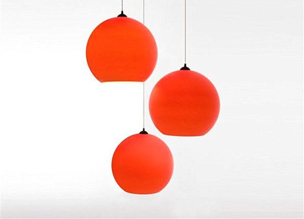 Sophisticated And Modern Pendant Lighting With Futuristic Style Red Polycarbonate Light Kateobriens