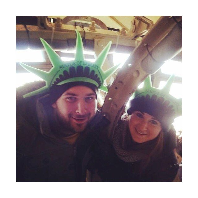 Throwback to NYC 2014 and the memories of the panic attack up the claustrophobic stairs to the crown of the Statue of Liberty was totally NOT worth it.  #couldntseeshit #tbt #nyc