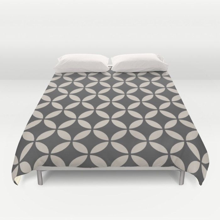 36 Colours Mid Century Modern Duvet Cover Geometric Circles Charcoal Black Bedding Double Duvet King Modern Duvet Covers Black Bedding Queen Duvet Covers