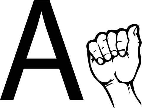 ASL Sign Language Letter A coloring page from ASL Alphabet