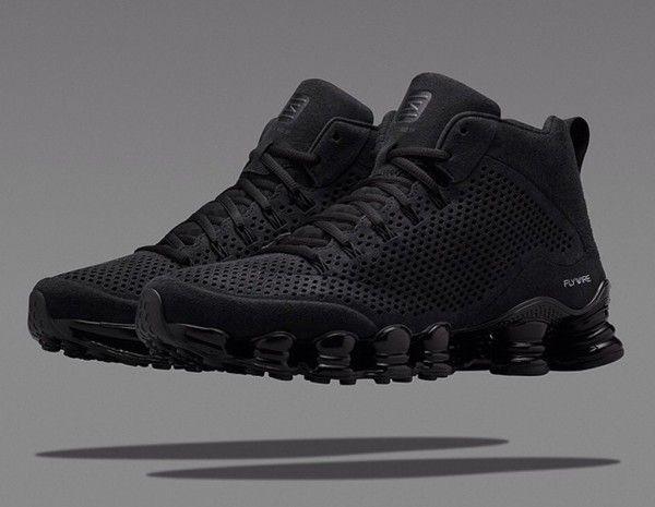 bab65702534 Nike Shox TLX Mid  Triple Black