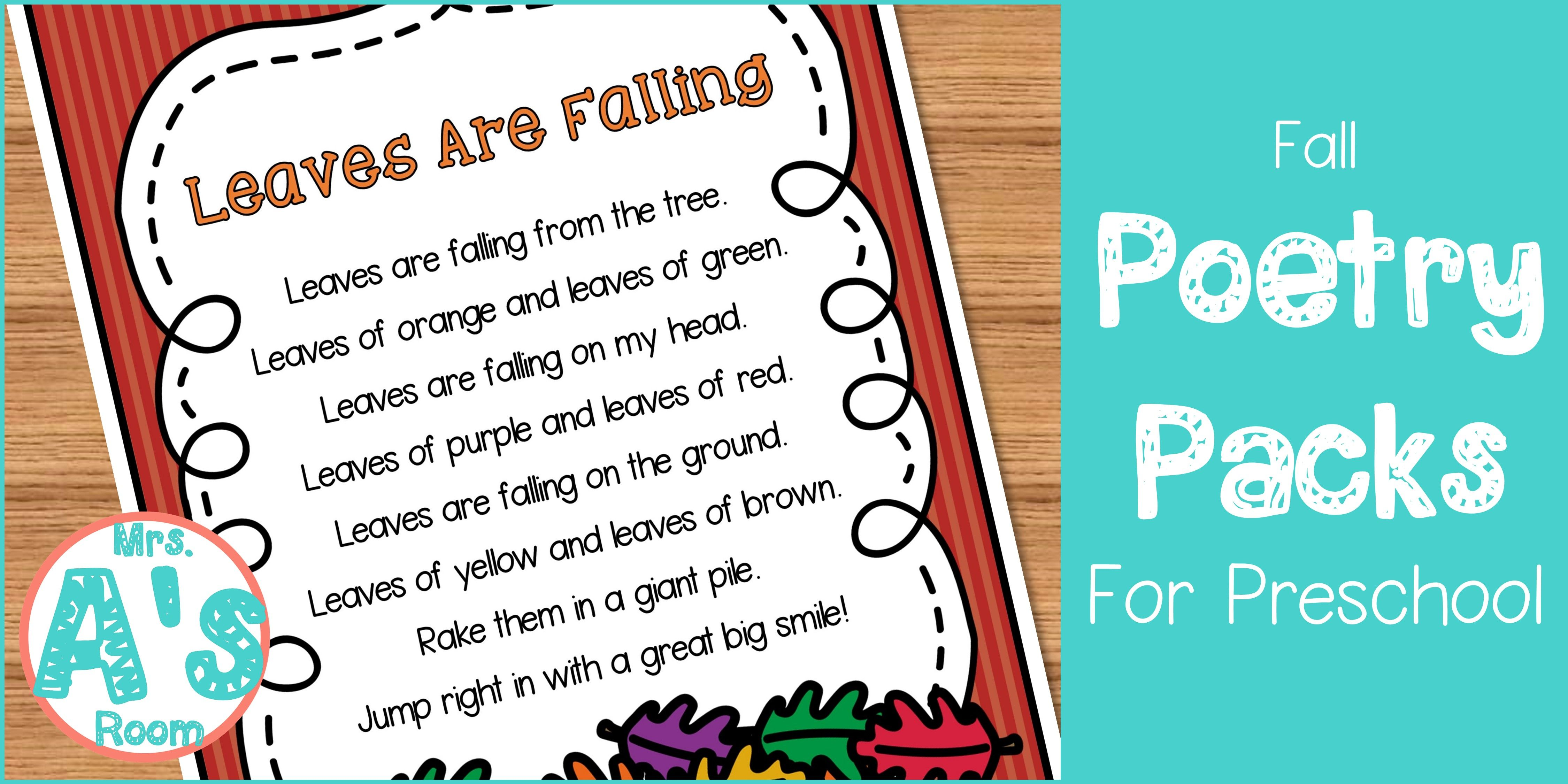Fall Poems For Preschool