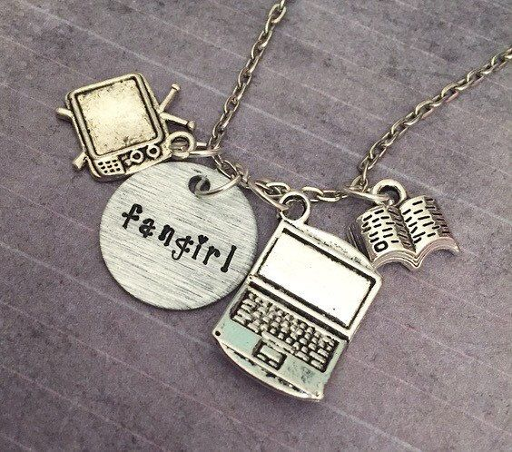 Fangirl Necklace  Fangirl Jewelry  Fandom by LulusStampings