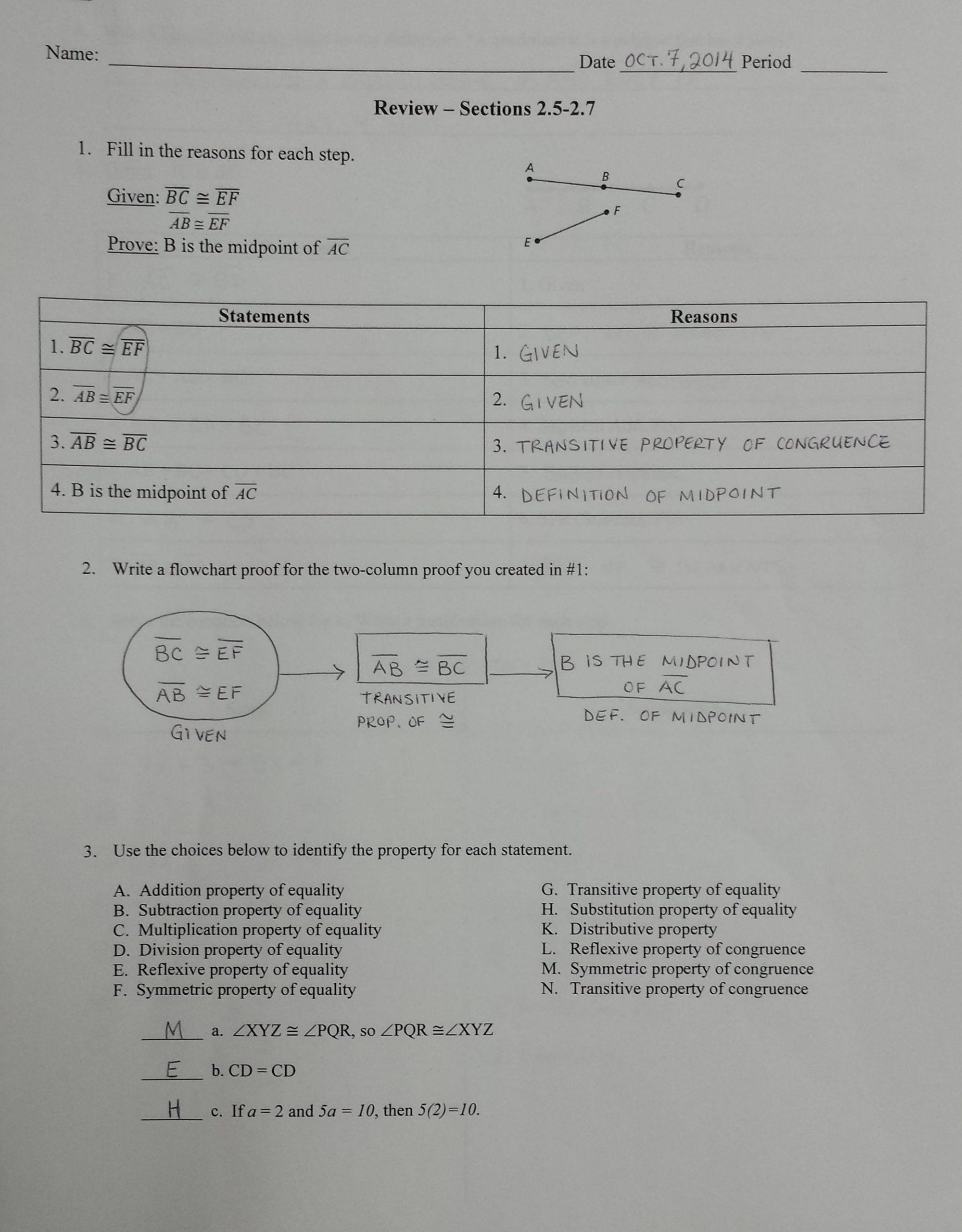 Algebraic Proof Worksheet Answers 2 6 Algebraic Proof Worksheet Answers In 2020 Letter Worksheets For Preschool Algebraic Proof Pre Algebra Worksheets