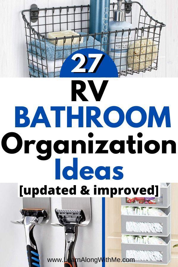 Photo of RV Hacks to get an Organized RV bathroom
