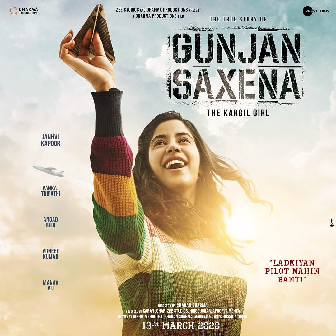 Gunjan Saxena Thekargilgirl Releasing On The 13th Of March 2020 Karanjohar Apoorva1972 Pank In 2020 Dharma Productions Movie Releases Latest Bollywood Movies