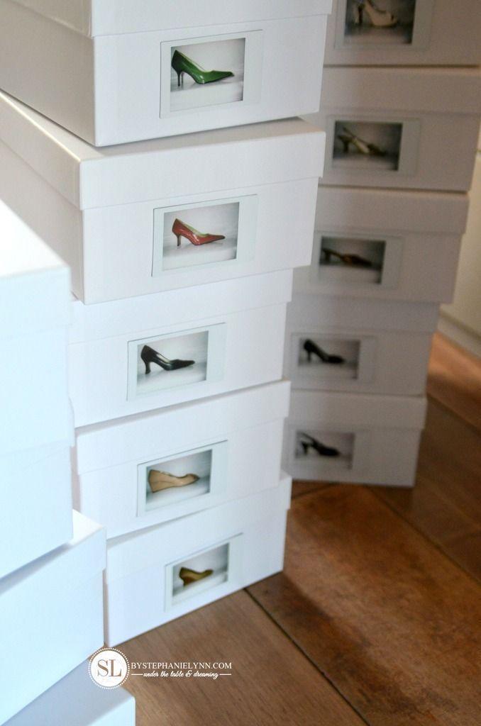 Shoe Storage Organization | diy photo shoeboxes - bystephanielynn#bystephanielyn...#bystephanielynnbystephanielyn #diy #organization #photo #shoe #shoeboxes #storage