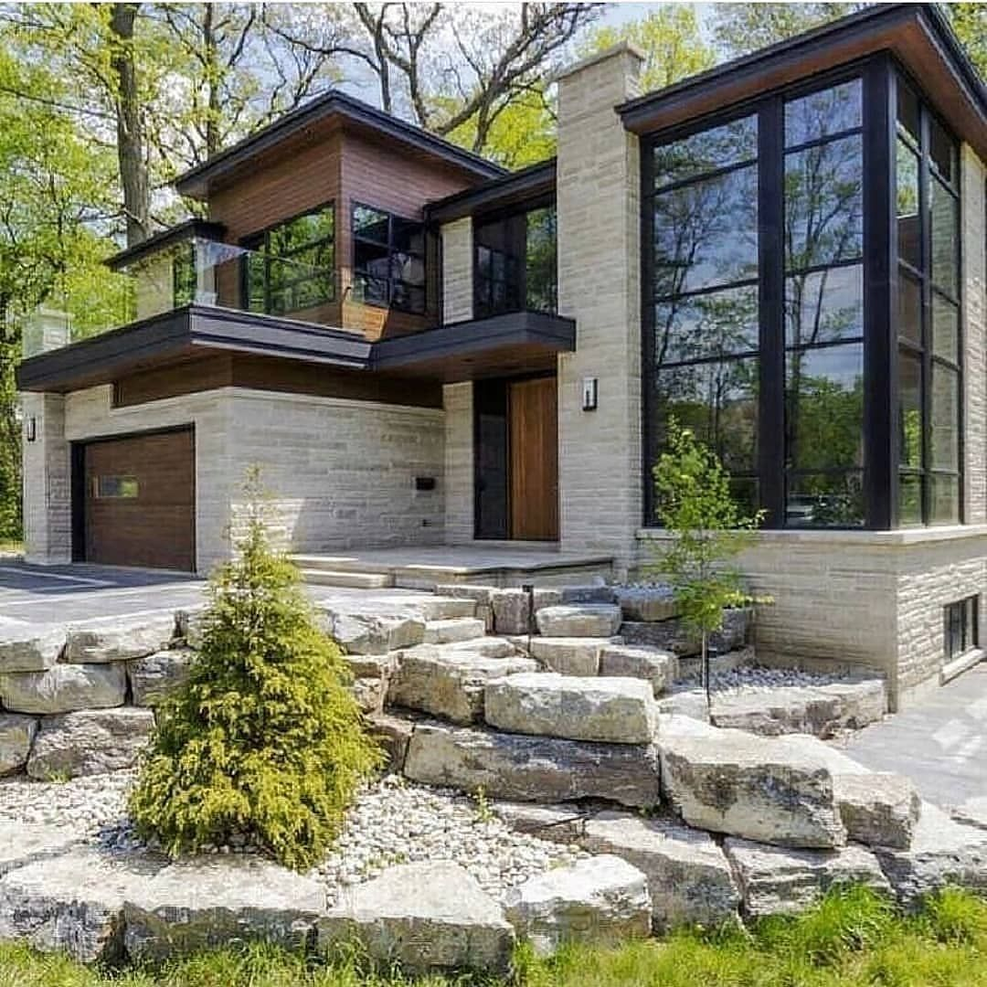Homes Mansions Houses On Instagram Exterior Goals Follow Housesaddictive For More Com Contemporary House Design Architecture House House Exterior