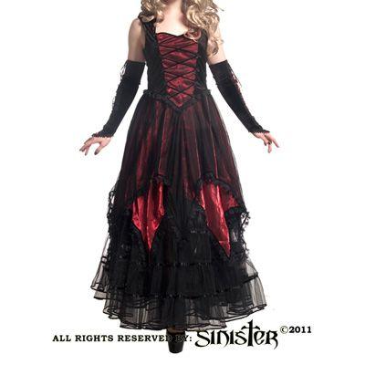 gothic jurk lang