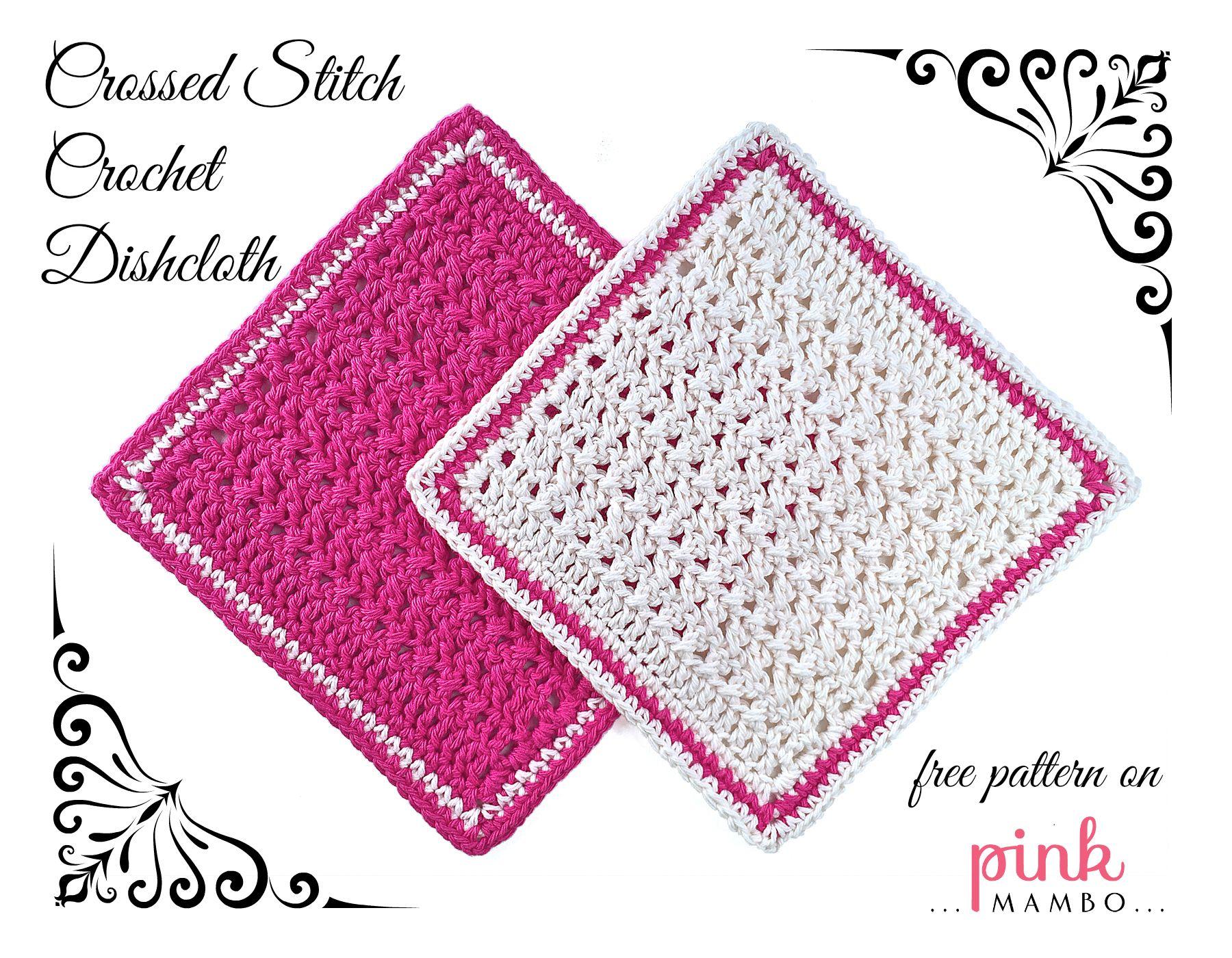 Crossed stitch crochet dishcloth cuadros para unir for Decoracion hogar a crochet