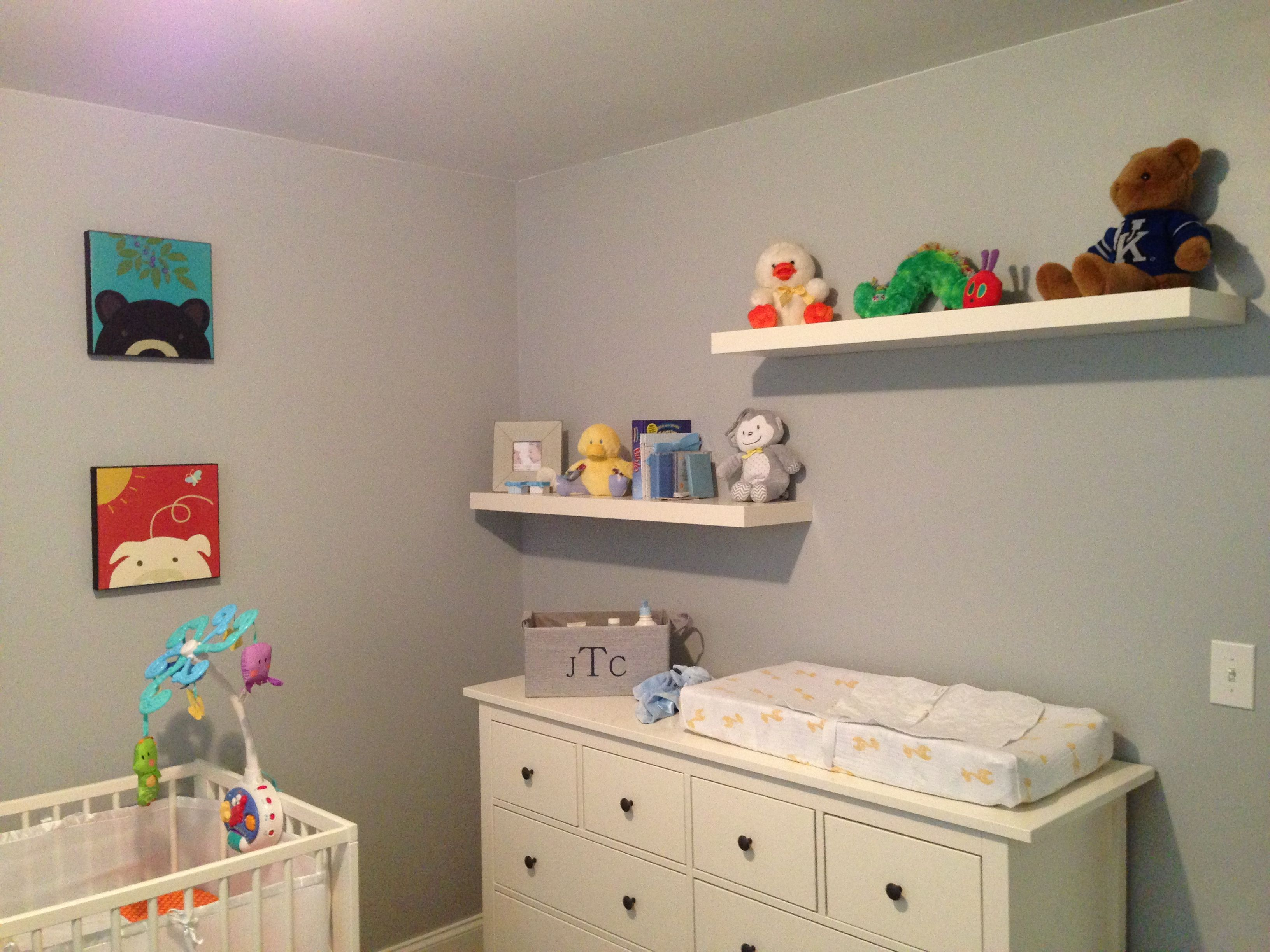 Nursery Paint color Lazy Gray from Sherwin Williams