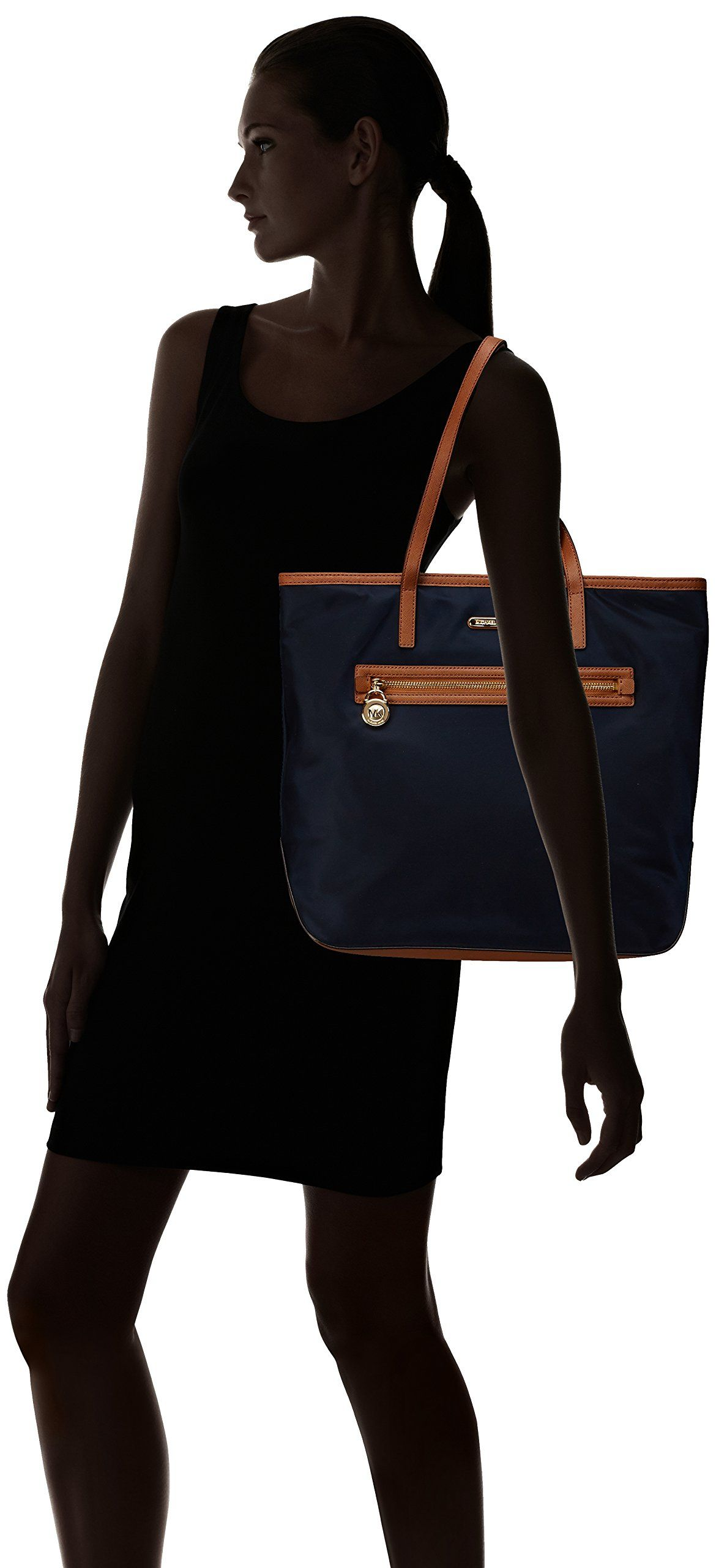 5526b4079056 MICHAEL Michael Kors Large North South Kempton Tote in Navy Blue: Handbags:  Amazon.com