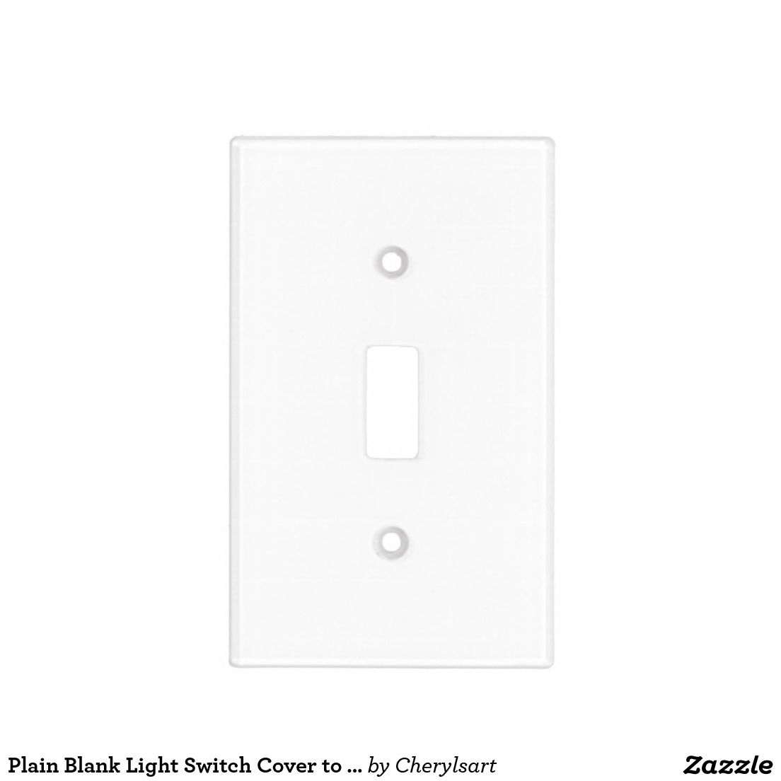 Plain Blank Light Switch Cover to DIY   Switch covers and Light switches