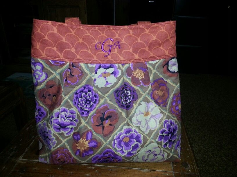 Finished Fall purse with monogram.