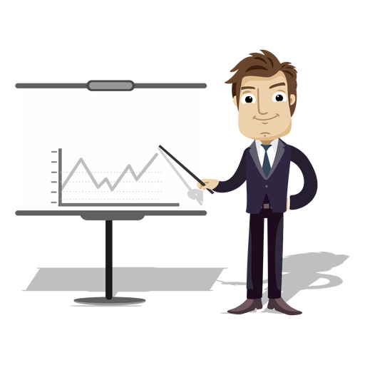 Businessman Cartoon Presenting Chart Board Png Office Cartoon Cartoon Business Man