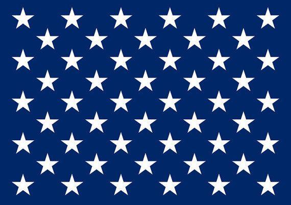 Fifty Stars Stencil Reusable Star Stencil Star Template Flag Template