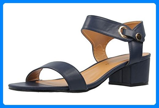 c3ce8a16256aed ANDRES MACHADO - Damen Sandaletten - Blau Schuhe in Übergrößen ...