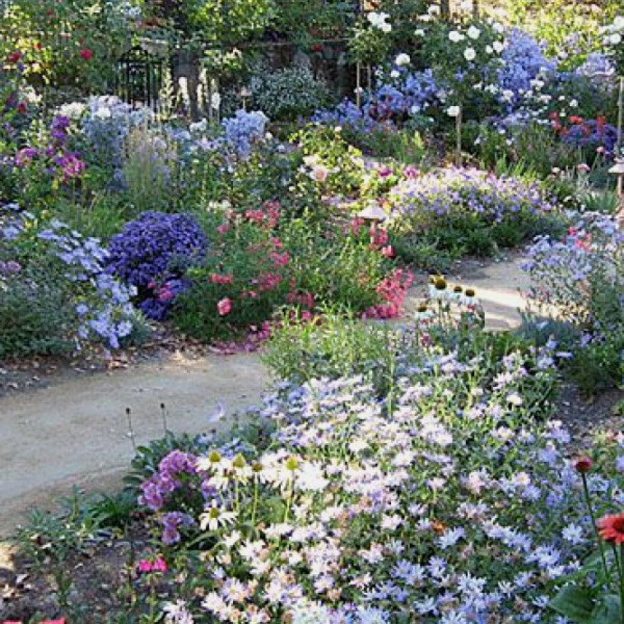 Design Ideas For Large Front Yards Borders And Paths In The Front Garden The Delimitation To The Road Also In 2020 Cottage Garden Garden Design Cottage Garden Design