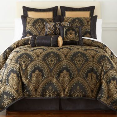 Jcpenney Home Expressions Yorkshire 7 Pc Damask Comforter Set