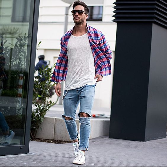5 Different Ways to Style Your Flannel Shirt | Mens fashion blog ...