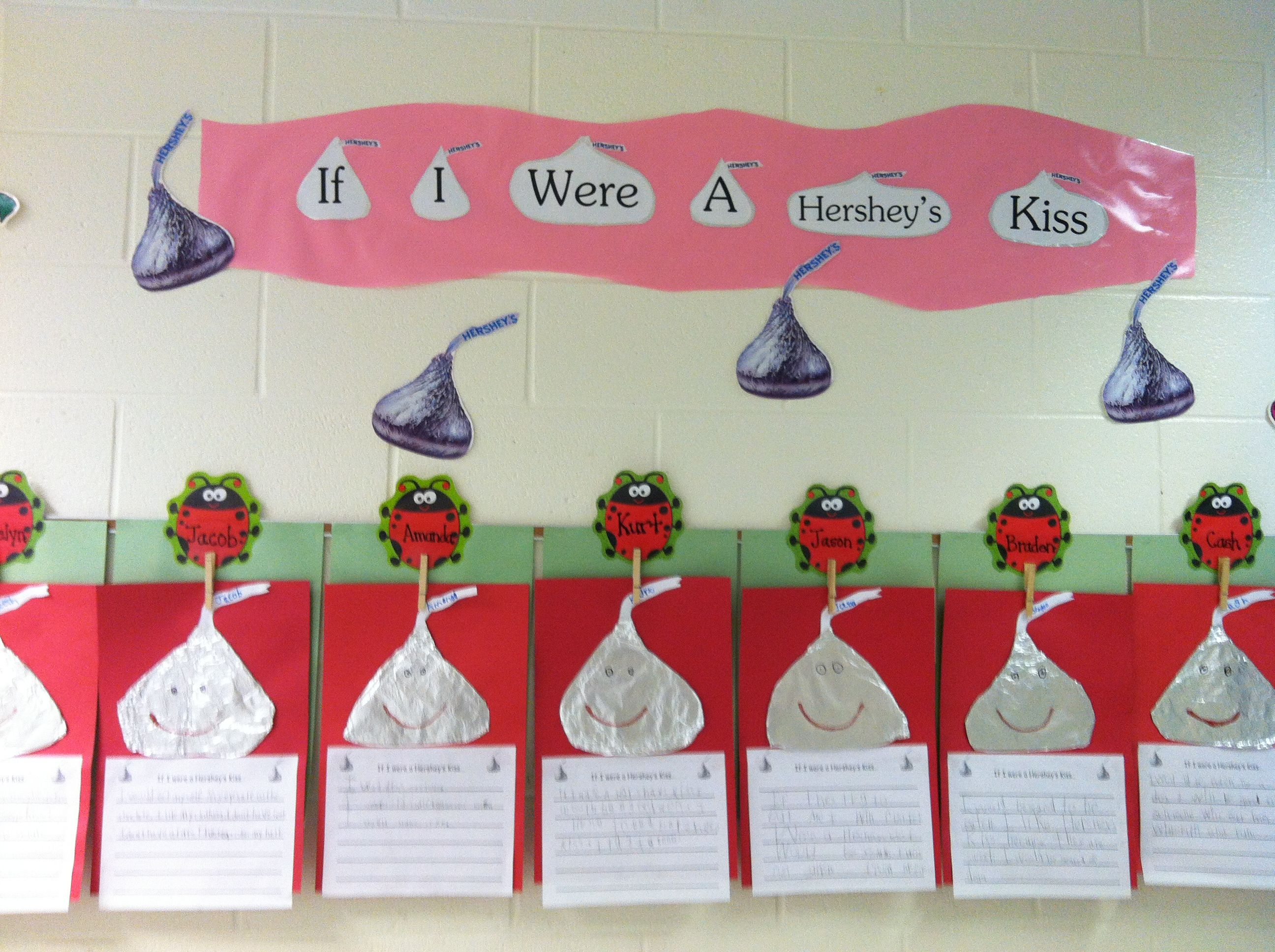 If I Were Hershey S Kiss Writing Activity We Did