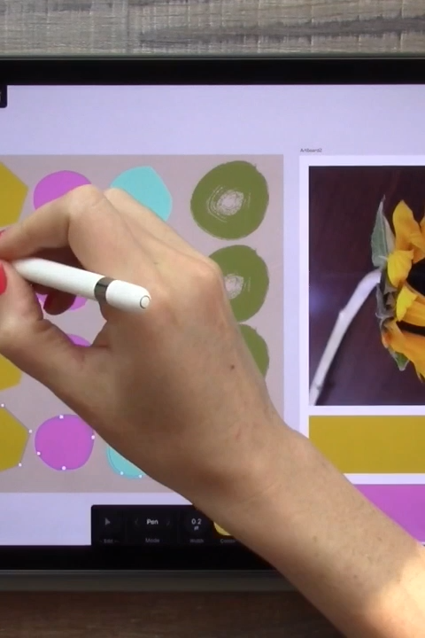 Learn iPad Vectors for Surface Design and Repeat Patterns #surfacedesign