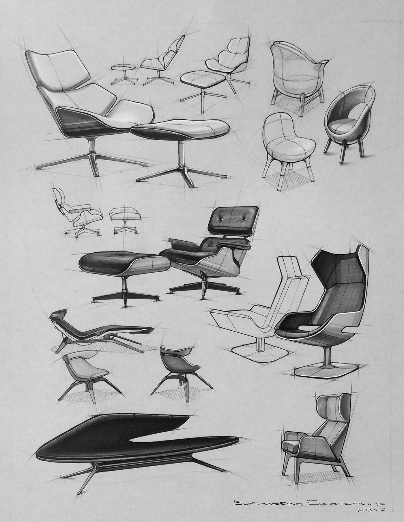 Https Www Behance Net Gallery 66004763 Furniture Sketches Sketch Chair Productdesign Furniture Design Sketches Furniture Sketch Industrial Design Sketch