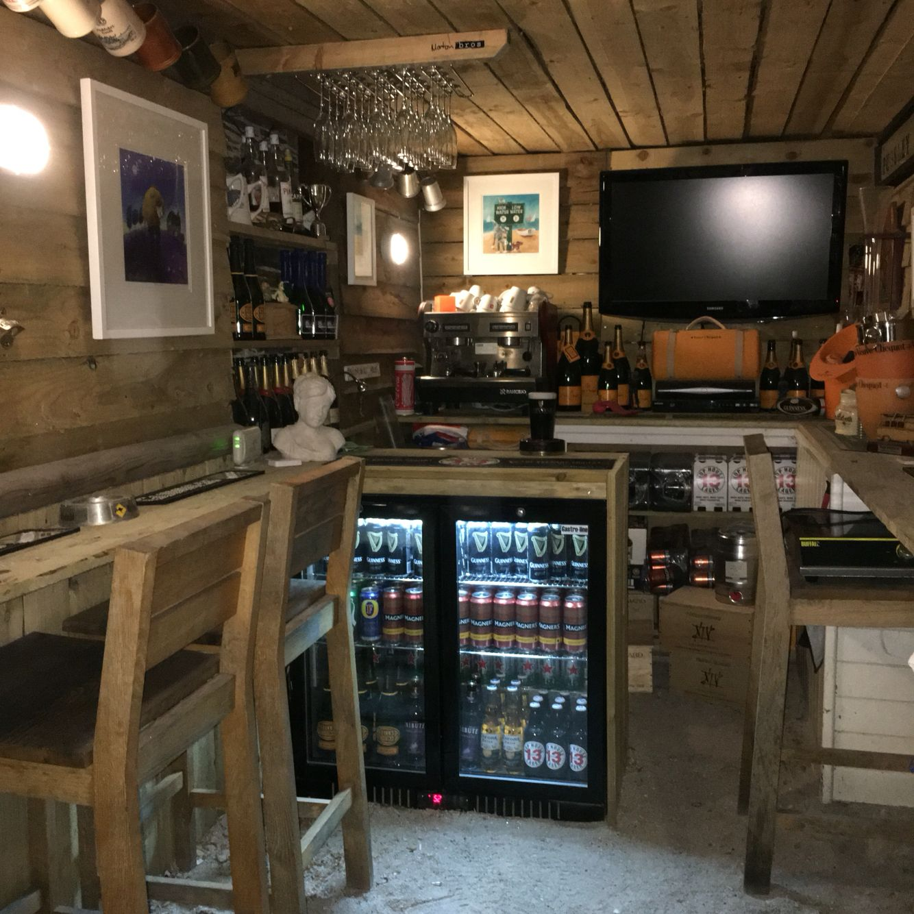 Home Bar Garage Conversion Pugsley Pours Pub Morton