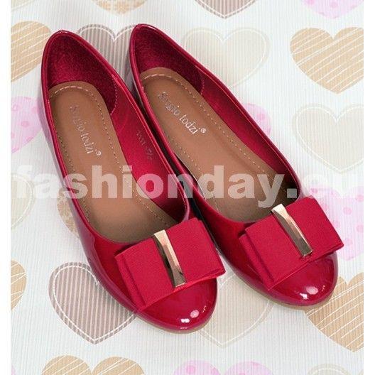 e34e11cb8b2e Dámske balerínky červenej farby - fashionday.eu
