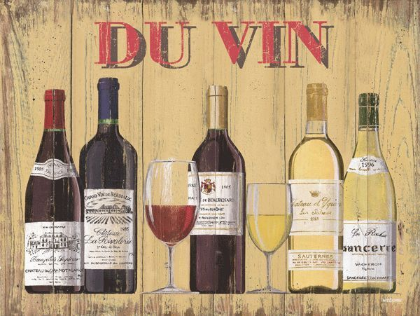 Du Vin French Wine Metal Sign, wine bottle, kitchen art #OMSC ...
