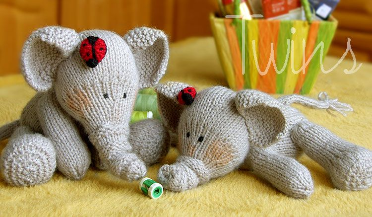 Twins knitting pattern minishop elephant and ladybug two twins knitting pattern minishop elephant and ladybug two language versions english and dt1010fo
