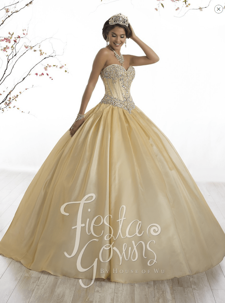 2d458522669 Be our guest and make your selection from these gorgeous tulle and satin  Belle of the gown type of Quinceanera dresses!