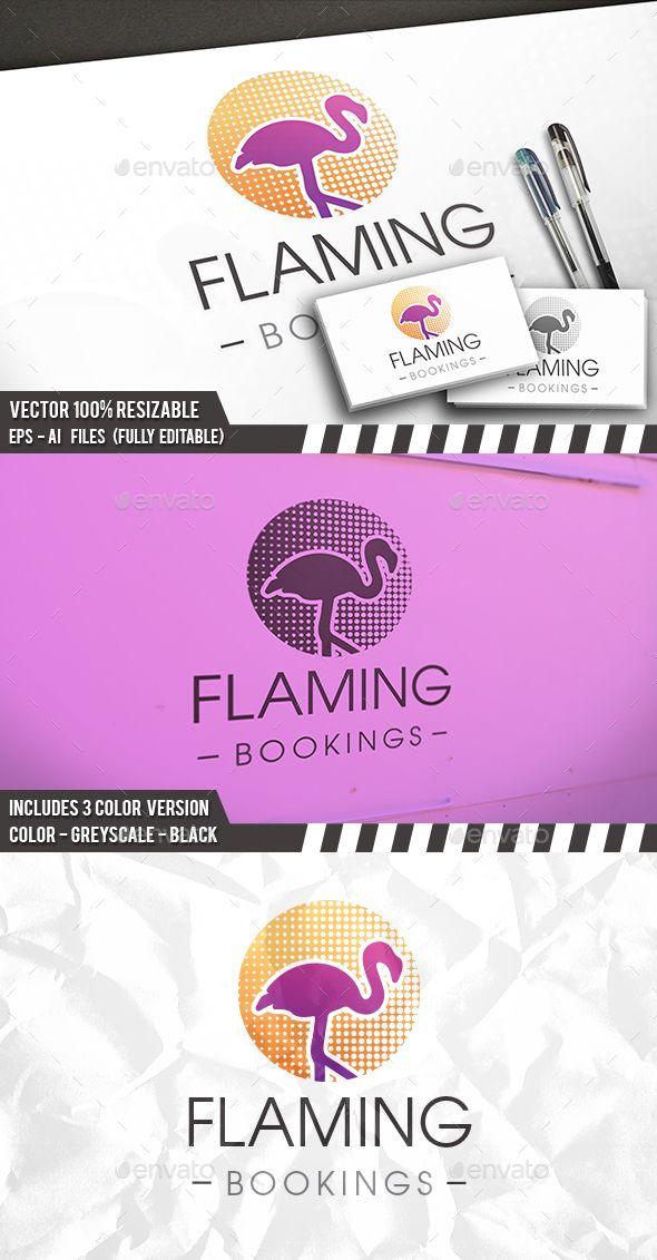 Flamingo Dots Logo Company Templates Logos