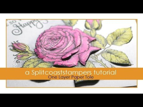 One Layer Paper Tole - YouTube