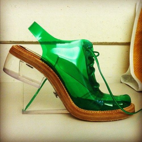Inside Teen Vogue: PVC lace-up brogues by Simone Rocha
